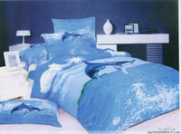 Wholesale blue dolphin queen bedding sets pc quilt duvet covers