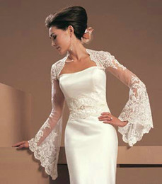 Wholesale Gorgeous Lace Jacket Match for the Bride Wedding Dresses Gowns Bolero Hot Sale Bridal Jackets with Long Sleeves Bridal Accessories