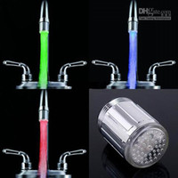 abs protection - 3 Color Water Glow LED Faucet Stream Light Temperature Sensor safety environmental protection shower