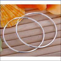 Wholesale Hot new fashion sterling silver hoop earrings jewelry gift pair