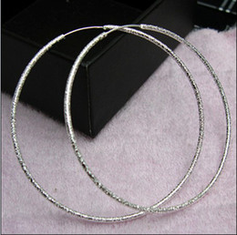 Wholesale Best selling sterling silver hoop earrings fashion sand ring gifts jewelry pair