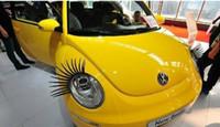 car parts - Automotive eyelashes Diamond eyeliner D Eyelash Auto Parts d car logo sticker