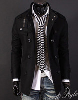 Wholesale New Fashion Korean Men s Luxury Style Slim Casual Double Button Coat Outerwear