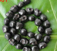 Wholesale 2013 hot sale Jewelry accessories x12x12MM BLACK SKULL HOWLITE TURQUOISE LOOSE BEAD