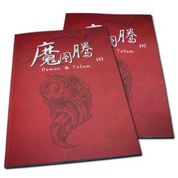 Wholesale 2pcs Set Tattoo Books Demon amp Totem Flash Tattoo Manuscript A3 Size