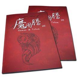 Wholesale 2pcs Set Tattoo Books Demon Totem Flash Tattoo Manuscript A3 Size