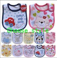 Wholesale Infant Saliva Towels layer Baby Bib Waterproof Bib Mark The Bib