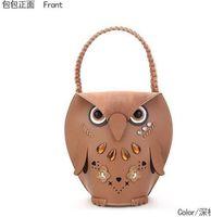 Brown beach totes cheap - New Women s Owl handbag beach bag Cheap Animal Casual fashion shopping bag Retro party bag handbag