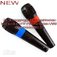 Wholesale 2x singing Microphone karaoke Fr Games PS3