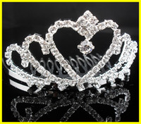 Rhinestone/Crystal Crown  2015 New Dazzling Crown Homecoming Prom Cocktail Party Wedding Bridal Accessories Princess Crown Tiaras Comb 18002