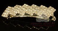 Wholesale Fashion Rhinestone Barrettes Crystal hair jewelry bridal hair clip pageant hair ornament
