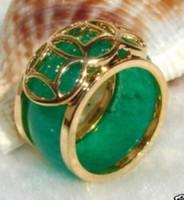 Wholesale Tibet Silver Green Jade Men s Ring