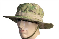 Wholesale Military Army Round brimmed Hat Sun Bonnet Woodland Camo Outdoor Cap for Fishing Hiking