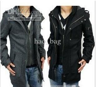 Hao_bag Hot Mens Trench Coat Fashion Men Wool Coat Winter ...