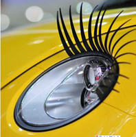 Wholesale Hot items pairs super cute Automotive eyelashes car accessories D Eyelash Auto Parts