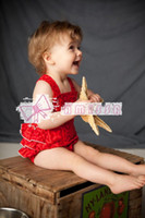 Wholesale Cute red abstract print skirt Romper Figure BB shirt baby kids clothing