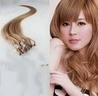 Wholesale 20inch s g Any Colors Loop Micro Ring Hair Extensions Remy Human Hair Extension