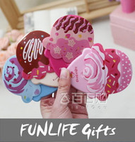 Wholesale funlife Brand New Cute IceCream Mini Portable Compact Makeup Mirror With Comb styles available