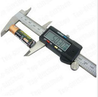 Wholesale 6 quot mm Digital Vernier Caliper Micrometer Guage Widescreen Electronic Accurately Measuring stainl