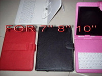Wholesale Leather case with usb keyboard bracket Stylus for inch Android Tablet via FEDEX