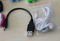Wholesale mp3 accessories earphone pin usb cable for mp3 player