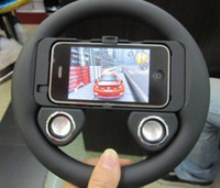 Wholesale Game Wheel Speaker for iPhone S Accessories Game Steering Wheel Plastic Controller Xmas Cheap p