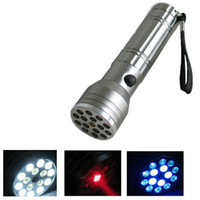 LED Flashlight Other Dry Battery 15 LED+UV+LASER Ultraviolet Flashlight Light Torch Lamp