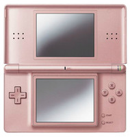 Wholesale Promotion Rose Metallic NDS Lite gameconsoles for GBA games R4i games Free by China post air
