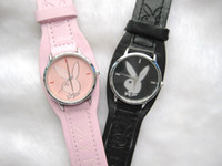Fashion playboy watches - Freeshipping watch Playboy Fashion Men gentlemanQuartz watches Leather Battery gifts