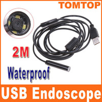 Wholesale 2M Mini USB Endoscope IP66 Waterproof Inspection Camera Borescope with LED light FOR HOME H4893