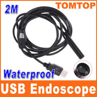 Wholesale Mini USB Endoscope IP66 Waterproof Inspection Camera M tube Borescope with LED light H4893