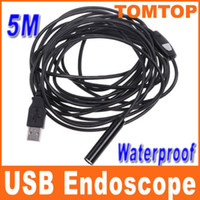 Wholesale 1PC M LED light Mini USB Endoscope IP66 Waterproof Inspection Camera Borescope H4894