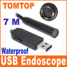 Wholesale sample leds M meters USB Endoscope ip66 Waterproof Inspection Camera snake tube Borescope H4978