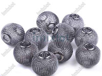 Wholesale Mesh Beads Mesh Spacer Beads Reticulation Alloy MM Mesh Bead Findings Round Mesh Beads bd7