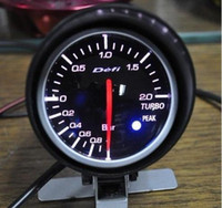 Wholesale 2 inch red blue mm BOOST GAUGE Gauge also can make the other gauge