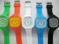 3.8 Rubber 23.8 Fashion Jelly Silicone Wristwatch Sports Watch Unisex Watch men's wristwatches 20pcs lot