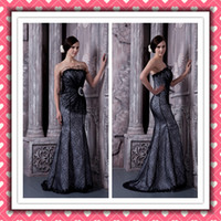 Real Image Beauty Sexy Mermaid Black Lace Gorgeous Formal Ev...
