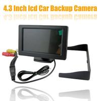 Nueva 4,3 pulgadas de coches Ver Kit Auto trasera en color TFT LCD de pantalla de Asistencia Embalaje + 170 grados Ver reversa de la cámara CMOS de copia de seguridad