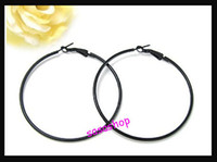 Wholesale Promotion Large Hoop hoops Earrings Basketball Wives Earrings Black Gold Round Earrings