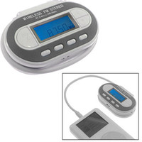 Wholesale New Channels LCD FM Transmitter for MP3 iPod White