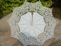 victorian parasol - classic belle lace umbrella cotton full Battenburg victorian Parasol wedding Bridal batten quot white