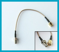 RP- SMA Male to RP- SMA Female RF Connector Pigtail Cable exte...