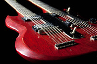 Solid Body double neck - best china guitar Custom Shop Double Neck Signed amp Aged Dark Cherry OEM Musical Inst