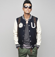 Wholesale British Men s Baseball Jacket men s Hoodie men s Jacket men s Coat navy Size M L XL XXL XXXL