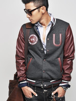 Wholesale monde British Men s Baseball Jacket men s Hoodie men s Jacket men s Coat dark gray Size M L XL
