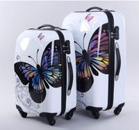 Wholesale butterfly bars box ABS PC boarding box suitcases
