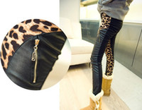 Wholesale Women s Casual slim Leggings sexy Pencil Pants Trousers leopard leather printed pant