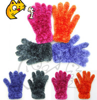 Wholesale Fashion Lovely Knitting Wool thick Thermal soft winter mittens hand keep warm winter gloves