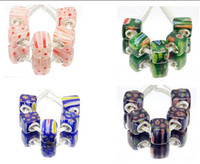 Wholesale new mix color Millefiori Square Bead fit Charm Bracelet