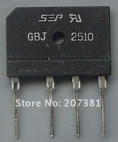Wholesale Freeshipping GBJ2510 A V AMP Bridge Rectifier